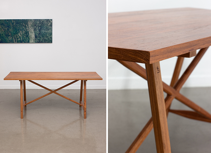 이무규/ Worktable/ 169.8x67.2x73.5cm/ Rose wood(장미목)/ 2010